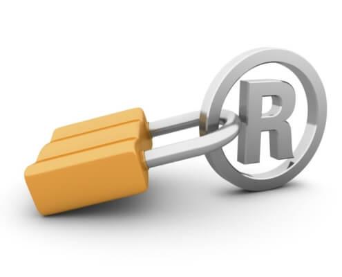 símbolo de registro de marca